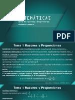 Matematicas Tema 1 Razones y Proporciones