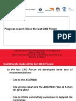 ACERWC 2nd CSO Forum Progress Report of the CSO Forum