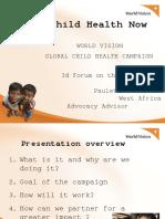 ACERWC 3rd CSO Forum Child Health Now Panel presentation
