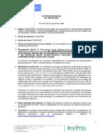 Aviso No. 1 de la Convocatoria- Licitación Pública 002 DE 2021