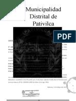 Modelo Constancia de Posesión (Pativilca)