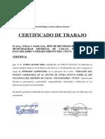 certificado de trabajo--- Puente Abel