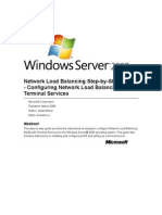 Network Load Balancing Step-by-Step Guide - Configuring Network Load Balancing with Terminal Services