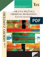 Arroyo Zapatero - Por Una Política Criminal Humanista - Olejnik