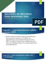BALOTARIO DE PREGUNTAS PARA INVENTARIO 2020