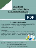 J Chapitre 11 - Les Acides Carboxyliques Et Les Fonctions Dérivées - SG