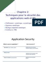 chap 2 - Techniques pour la sécurité des applications web et BD