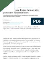 """""""Sexo Sob Efeito de Drogas, Chemsex Atrai Praticantes e Acumula Riscos"""", 28/08/20021"""