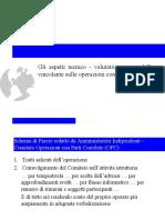 Gli aspetti tecnico valutativi delle OPC
