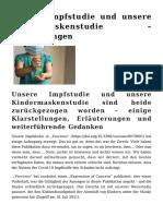 Walach Harald - Impfstudie und Maskenstudie - Erläuterungen