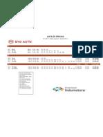 lista de precio Abril BYD