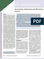 Posición de la Asociación Dietética Americana (ADA). Dietas vegetarianas (2009)