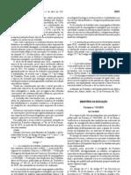 Portaria-n.º-141-2011 sobre a habilitação profissional para lecionar Espanhol