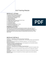 SharePoint 2010  Training Module