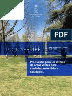 Propuestas para un sistema de áreas verdes para ciudades sostenibles y saludables