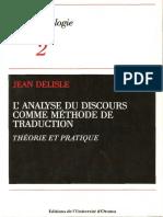 Lanalyse Du Discours Comme Methode de Tr