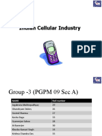 Indian Cellular Industry - Current Status & Future Prospects