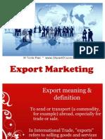Export Marketing Golden rule