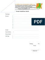 Formulir Pendaftaran Akustik