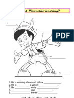 What is Pinocchio wearing?