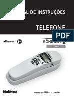 Manual Telefone Gôndula com ID - MULTITOC