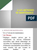 2-Les méthodes de maintenance
