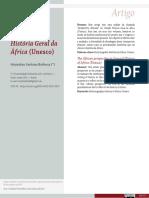 BARBOSA, Muryatan Santana. A perspectiva africana na História Geral da África (Unesco)