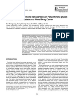 Self-Assembled Polymeric Nanoparticles of Poly(ethylene glycol)