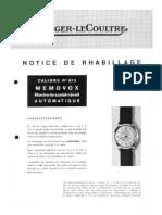 LeCoultre 815 Tech Sheet