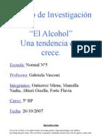El alcohol  Una tendencia que crece