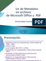 Análisis de Metadatos en Archivos Microsoft Office y Adobe PDF