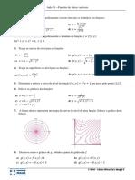 Lista 01 - Funções de várias variáveis