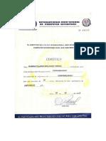 Certificado de Contabilidad