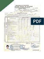 Certificado de estudios secundarios