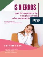 Os 9 Erros - eBook 1º Dia