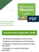 Certificados Digitales 2020