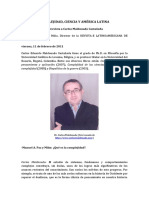 229232608 Complejidad Ciencia y America Latina Entrevista a Carlos Maldonado Castaneda Manuel a Paz y Mino