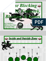Zone Blocking Part II - Footwork, Blocking Schemes