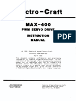 Electro-Craft MAX-400 PWM Servo Drive Instruction Manual