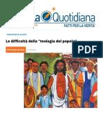 """Le difficoltà della """"teologia del popolo"""""""
