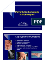 Polyarthrite rhumatoide et biothérapie