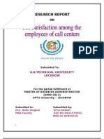 Job Satisfaction Among the Employees of Call Centers