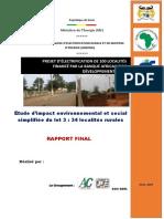 Projet d'électrification rurale du Bénin-Rapport_EIES_lot3_BAD