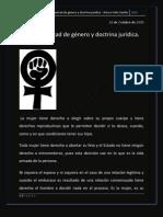 Aborto. Libertad de género y doctrina jurídica