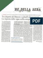 Corriere Della Sera - 5 04 2011 - L'Agronomo-Enologo Curtaz e Il Clima - TENUTA DI FESSINA _ Di Mauro Remondino