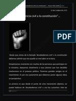 """La """"desobediencia civil a la constitución""""…"""