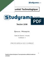 Corrige 44039 Corrige BACSTMG Philosophie 2018