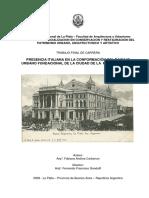 Carbinari presencia italiana La PLata 1882 . 1932 (tesis)