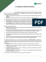 BIOLOGIA Exercícios ENEM - Conceitos Básicos Em Ecologia e Relações Alimentares-b96739fc2bc2d13e7d1a2f31c1bc1f21