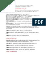 Programa para el Festival Tierra Adentro de 2011